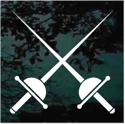 Fencing Crossed Rapiers Thrusting Swords Decals