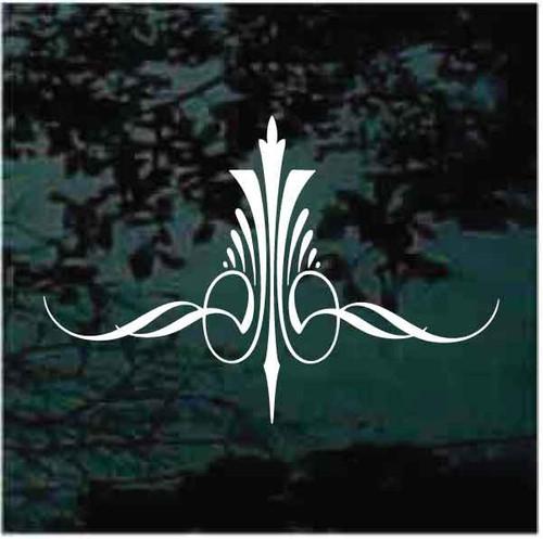 Decorative Fleur de Lis Pinstripe Decals