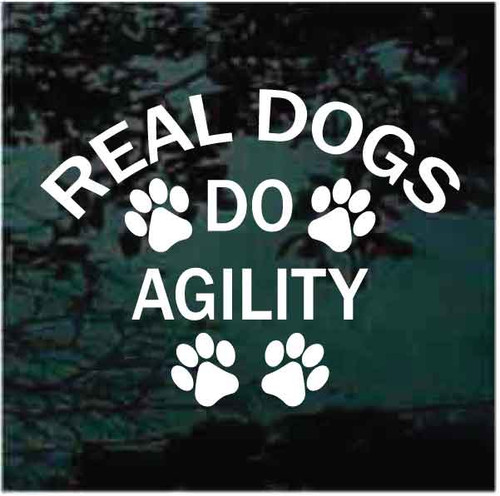 Real Dogs Do Agility Decals