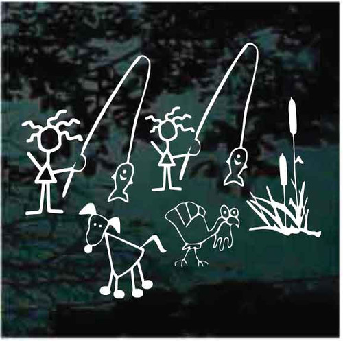 Fishing Family Decals