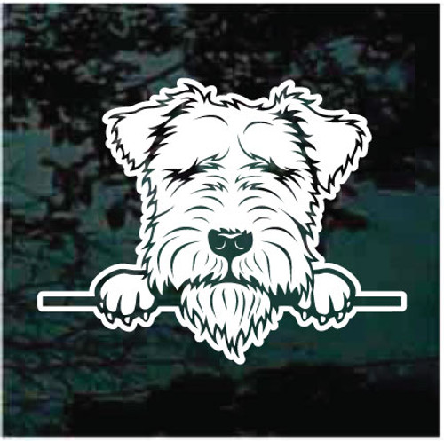 Lakeland Terrier Peeking Decals