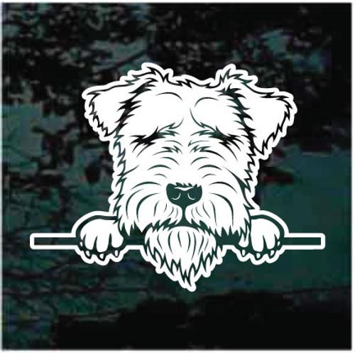 Lakeland Terrier Peeking Doggie In The Window Decals