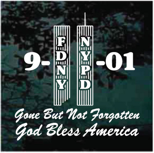 Twin Towers 9-11 Memorial Window Decals