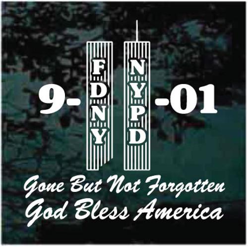Twin Towers 9-11 Memorial Window Decals