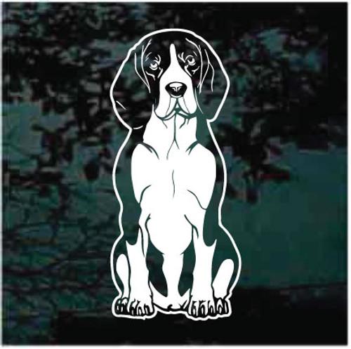 Beagle Sitting Window Decals