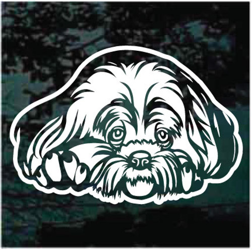 Sweet Lhasa Apso Head Decals
