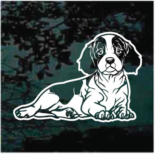 Cavalier King Charles Spaniel Laying Down Window Decals