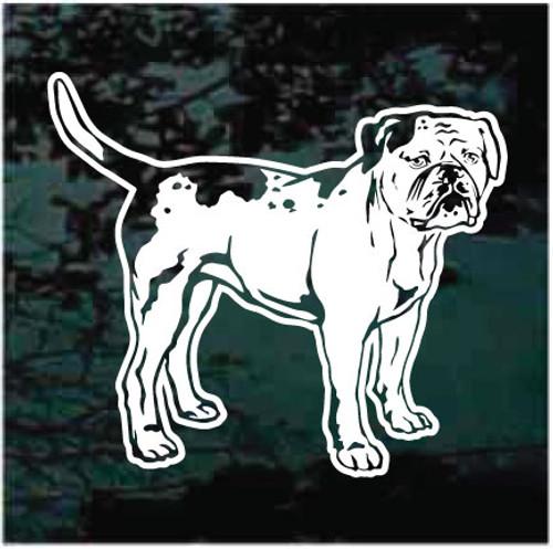 American Bulldog Standing Window Decals