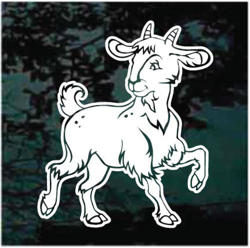 Cute Little Billy Goat Window Decals