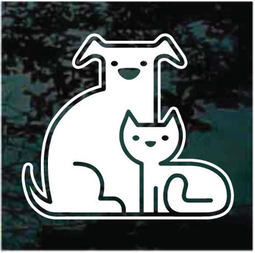 Dog & Cat Logo Icon Window Decals