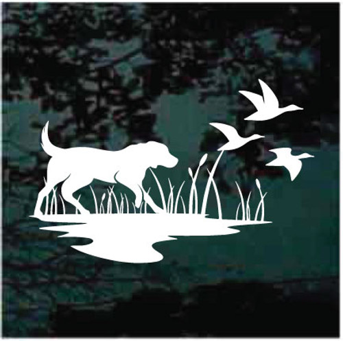 Duck Hunting Dog Silhouette Decals