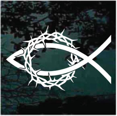 Christian Fish Crown Of Thorns Decals