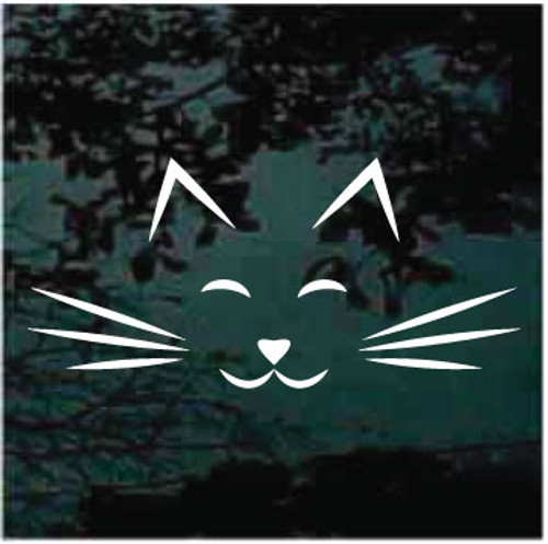 Cat Face Icon Window Decals