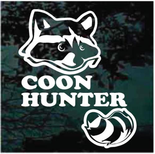 Raccoon Head Coon Hunter Decals
