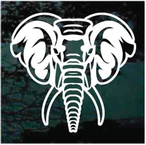 African Elephant Head Window Decals