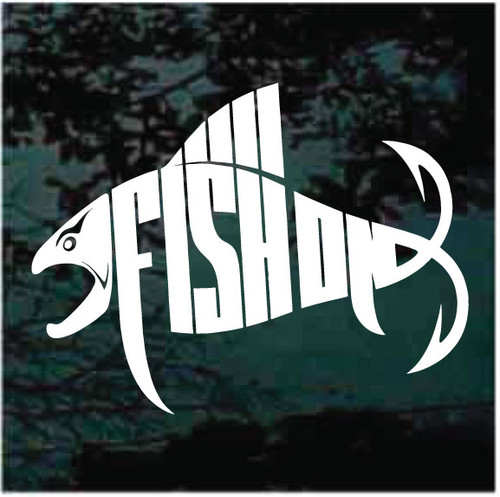 Fish On Finned Fish Window Decals
