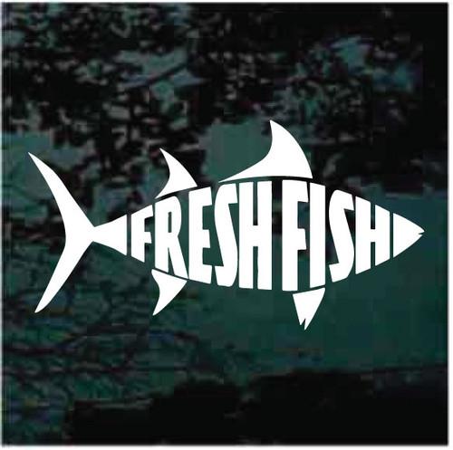 Fresh Fish Window Decals