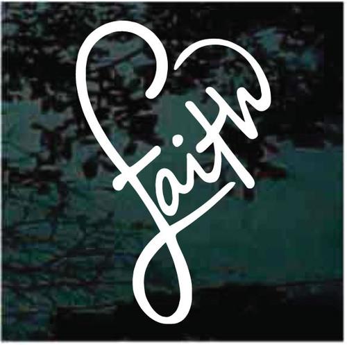 Faith Heart Window Decals