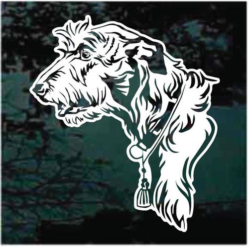 Irish Wolfhound Head Decals