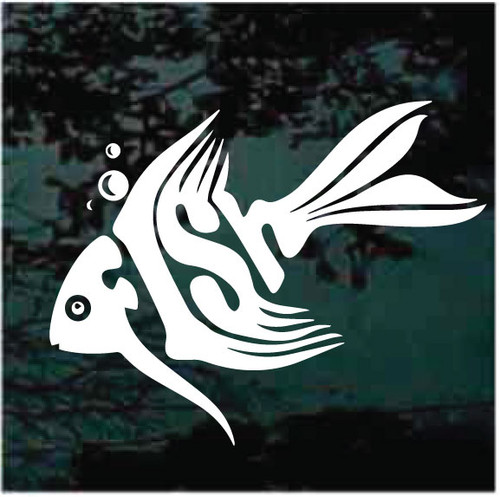 Tropical Fish Word Window Decals