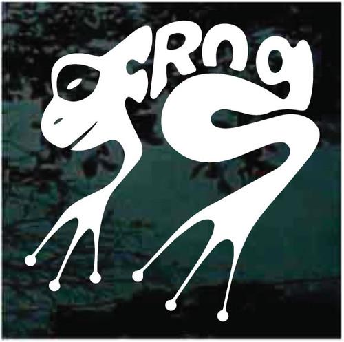 Frog Word Window Decals