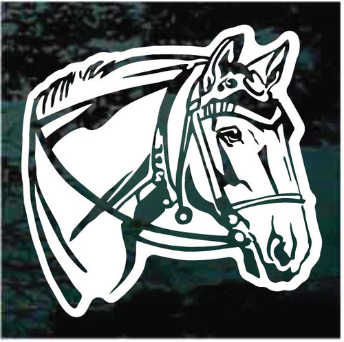 Bridled Horse Head Window Decals