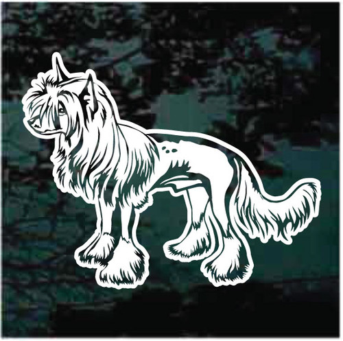 Chinese Crested Profile Window Decals