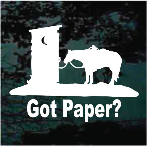 Got Paper? Horse At Outhouse Window Decals