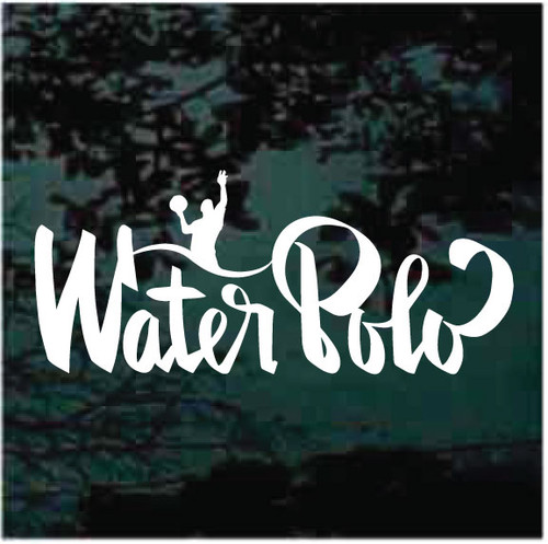 Water Polo Lettering Window Decals