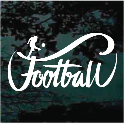 Football Lettering Window Decals