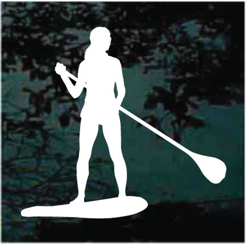 Girl Paddleboarding Window Decals