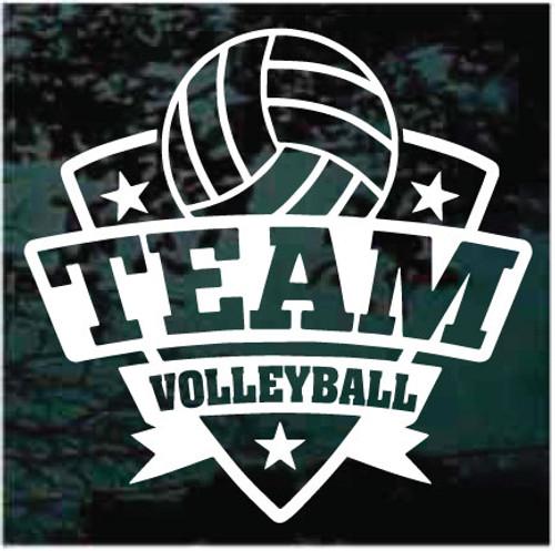 Volleyball Team Window Decals