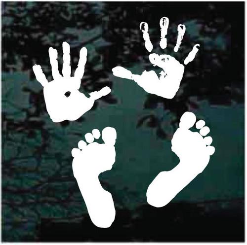 Hands & Feet Window Decals