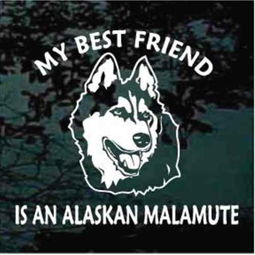 Best Friend Alaskan Malamute Window Decal