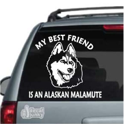 Best Friend Alaskan Malamute Car Decal