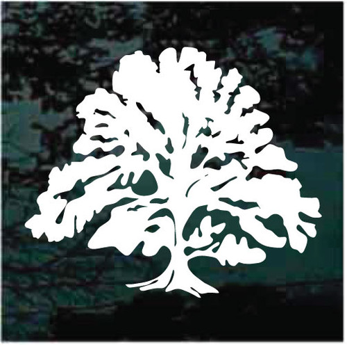 Big Oak Tree Window Decals