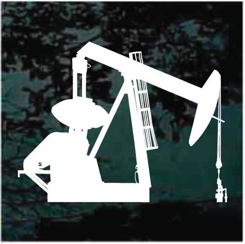 Oil Well Derrick Logo Window Decals