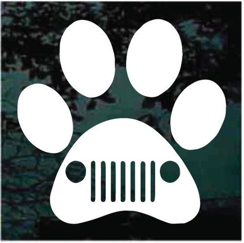 Jeep Paw Print Window Decals