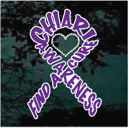 Chiari Awareness Ribbon Window Decals