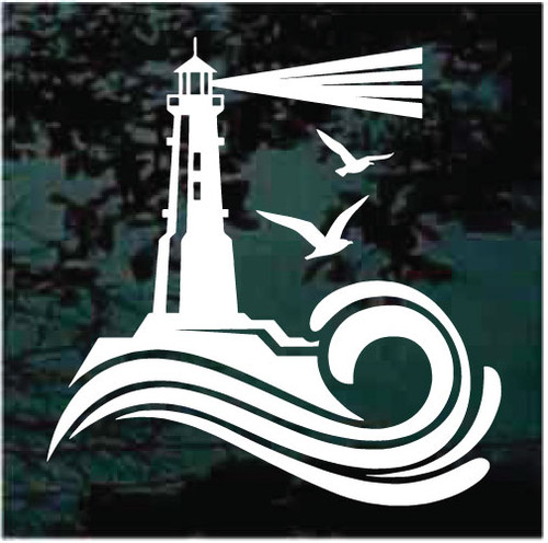 Lighthouse Icon Window Decals