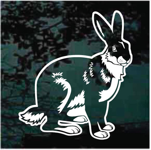 Sitting Rabbit Window Decals