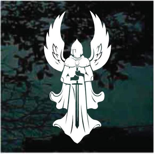 Angel Warrior With Sword Window Decals