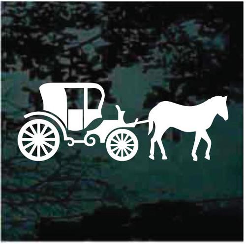 Vintage Horse Drawn Carriage Window Decals