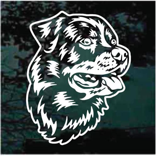 Pretty Rottweiler Head Window Decals