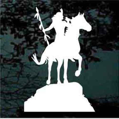 Indian Brave on Rearing Horse Decal