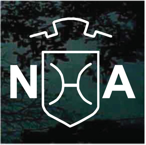 North American Holsteiner Horse Breed Logo Window Decals