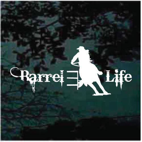 Barrel Racing Barrel Life Window Decals