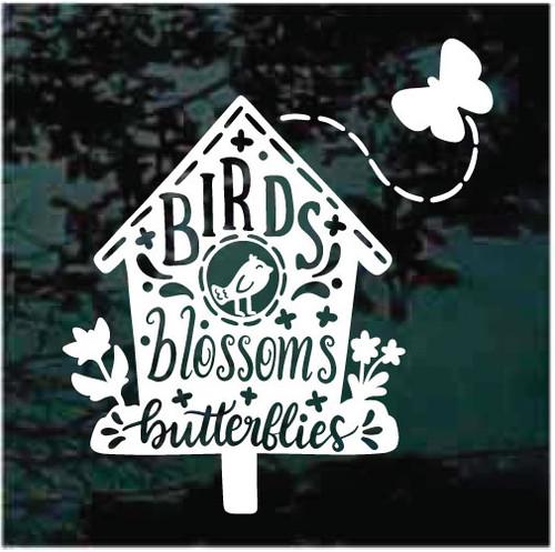 Birds Blossoms Butterflies Window Decals