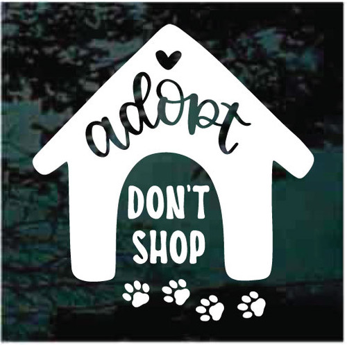 Adopt Don't Shop With Paw Prints Window Decals