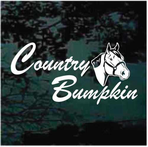 Country Bumpkin Quarter Horse Window Decals